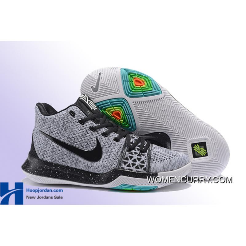 "24a1a739491a USD  88.79  239.55. ""Oreo"" Nike Kyrie 3 Wolf Grey Black Men s Basketball  Shoe New ..."
