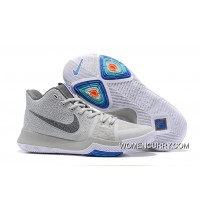 Nike Kyrie 3 Wolf Grey/Volt – White PE Men's Basketball Shoes New Release