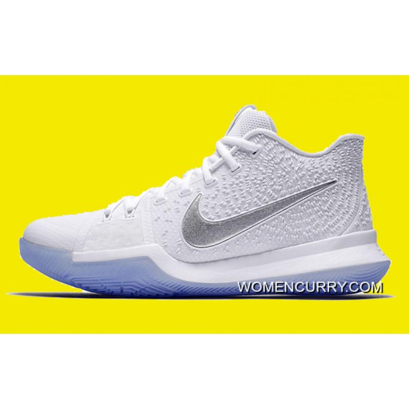 official photos e6472 df191 Nike Kyrie 3 'White Chrome' 852395-103 New Release