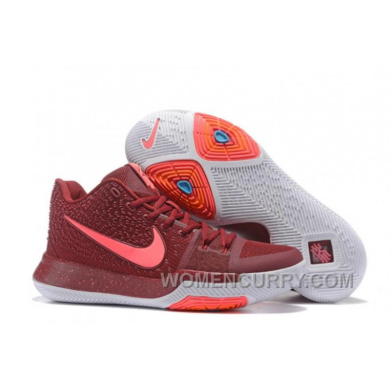 dd4d84e22cd USD $86.89 $256.50. Nike Kyrie 3 Mens BasketBall Shoes Burgundy Top Deals  TMy5EZp ...