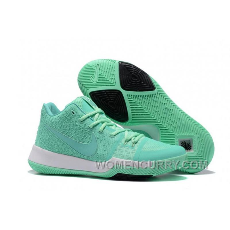 low priced d9244 7cb51 USD $84.00 $252.00. Nike Kyrie 3 Mens BasketBall Shoes Light Green White  Cheap To Buy ...