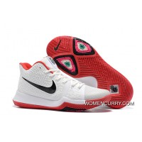 Nike Kyrie 3 White Red Black Free Shipping