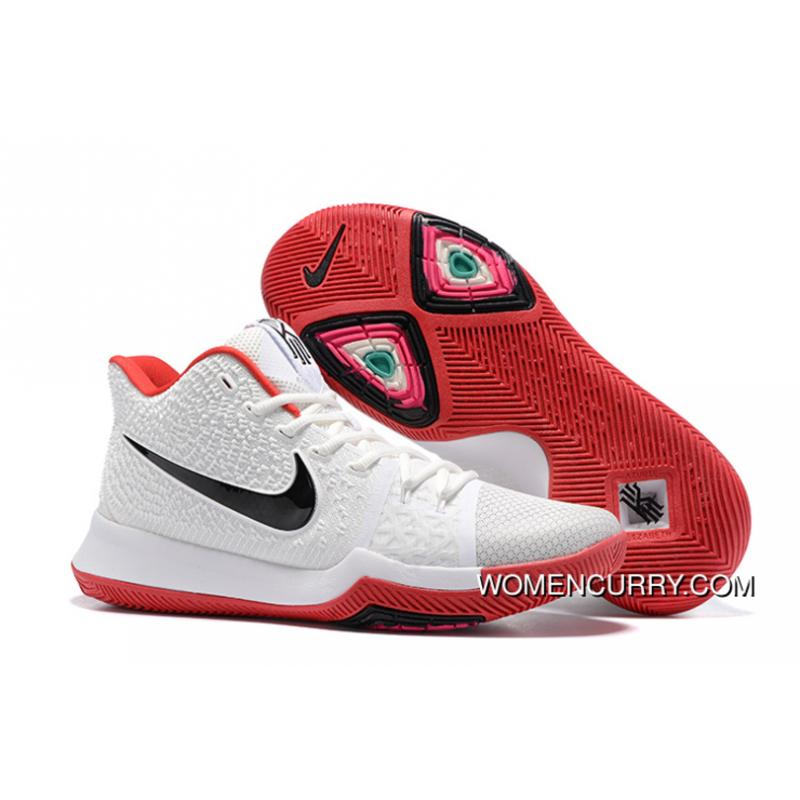 Nike Kyrie 3 White Red Black Free Shipping ...