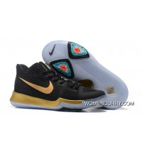 """Nike Kyrie 3 """"Black Gold"""" On Sale New Style"""