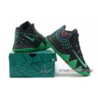 Nike Kyrie 4 Mens Basketball Shoes Black Green Super Deals