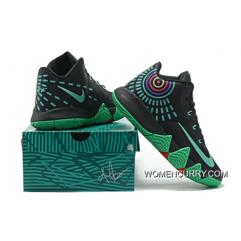 buy online 736a2 c5043 Nike Kyrie 4 Mens Basketball Shoes Black Green Super Deals .
