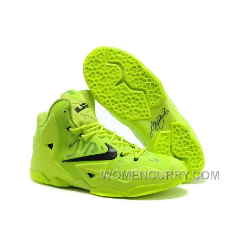 Nike LeBron 11 Volt Green/Black For Sale Lastest Y4tajZd ...
