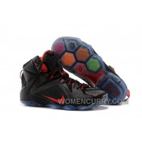 Nike LeBron 12 Black/Red Mens Basketball Shoes Authentic AMDEZ