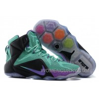 Nike LeBron 12 Teal/Court Purple-Black Mens Basketball Shoes Authentic BGiCMf