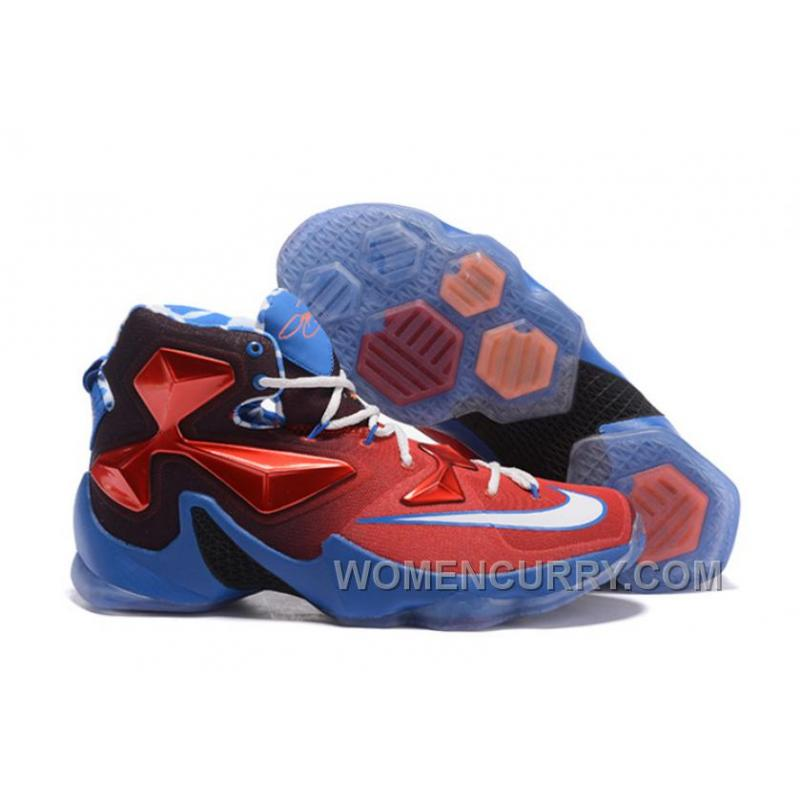"sneakers for cheap fdcf2 3a67a Christmas Deals Nike LeBron 13 ""USA"" Red/White-Blue Basketball Shoes"