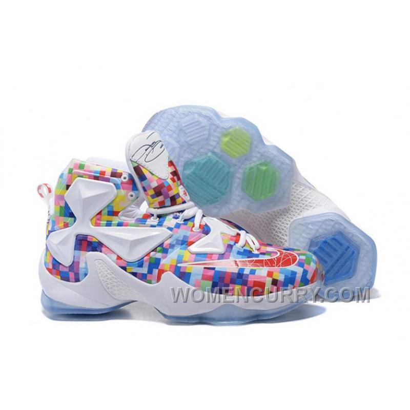 "new product c3318 0b364 Nike LeBron 13 ""Prism"" Multi-Color/University Red-White Basketball Shoes  Cheap To Buy"