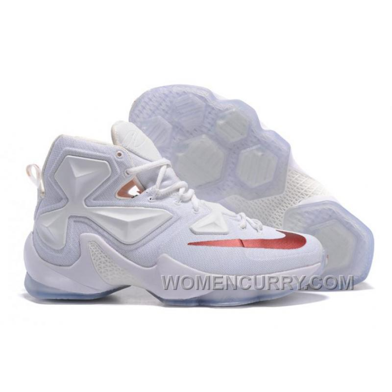 Discount Nike LeBron 13 White Wine PE Shoes For Sale 15631 fab880c0f