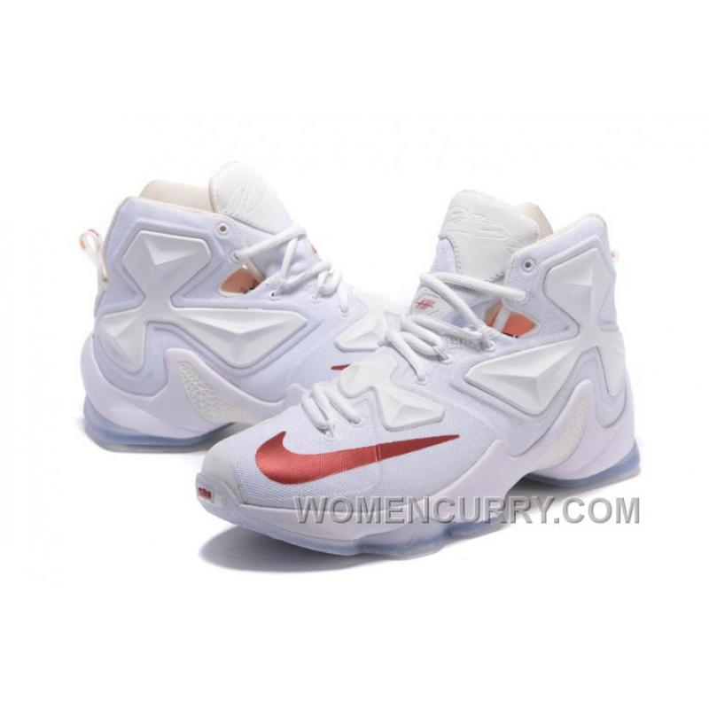 Discount Nike LeBron 13 White Wine PE Shoes For Sale 15631 61265e4b6