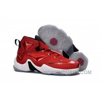 Nike Lebron 13 Gym Red Black White Mens Basketball Shoes For Sale A7ZQ7aY