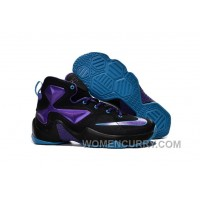 Nike Lebron 13 Hornets Club Purple Black Vivid Blue Mens Basketball Shoes Online YESiXC
