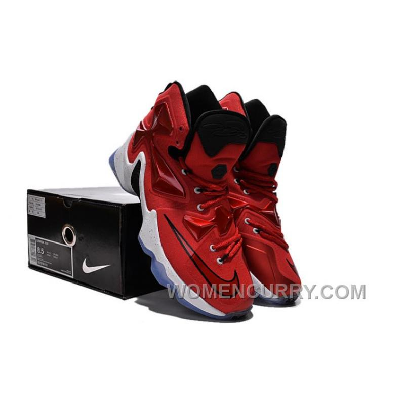 release date: 9bcdb af5b9 Nike LeBron 13 Away University Red Black White And Laser Orange Super  Deals, Price   85.69 - Women Stephen Curry Shoes Online