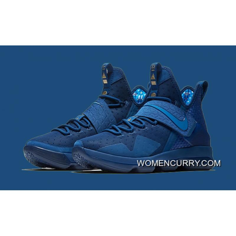e76abd5c37f8c Newest Sale! Nike LeBron 14 Agimat Coastal Blue White-Star Blue ...