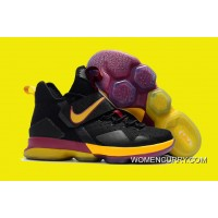 Nike LeBron 14 Cavs PE Black Wine Red/Gold Online