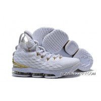 Top Deals Nike LeBron 15 White/Metallic Gold