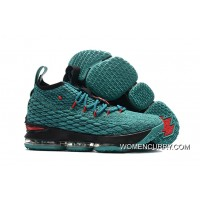 Nike LeBron 15 Light Green/Black-Red Top Deals