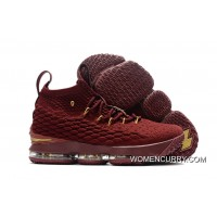 Copuon Nike LeBron 15 Wine-Red/Gold