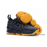 Nike LeBron 15 Navy Blue/Yellow-Red Super Deals