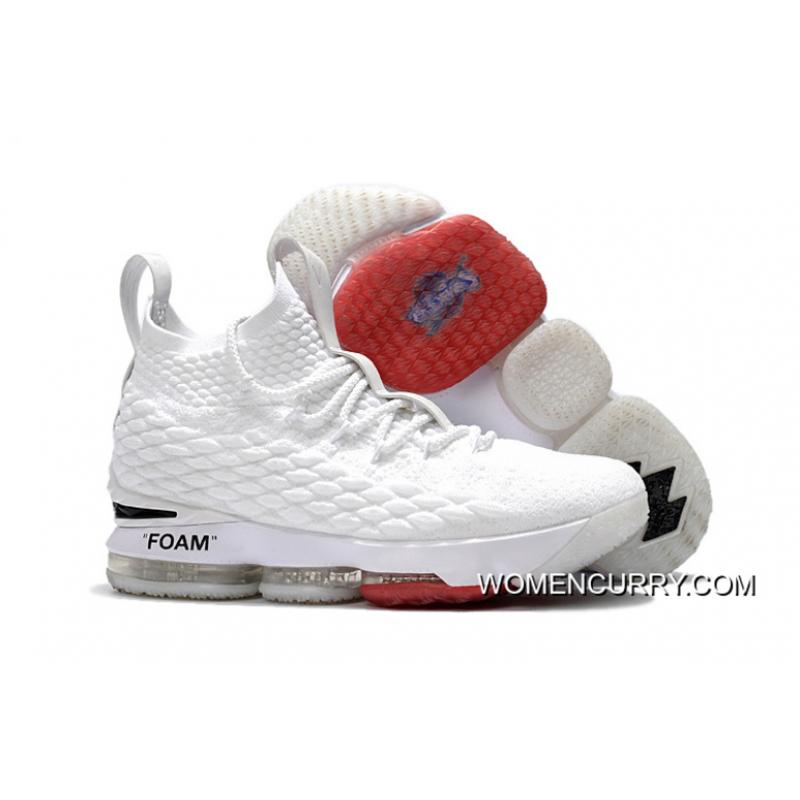 buy popular 65bfd f66d0 OFF-WHITE X Nike LeBron 15 White Outlet