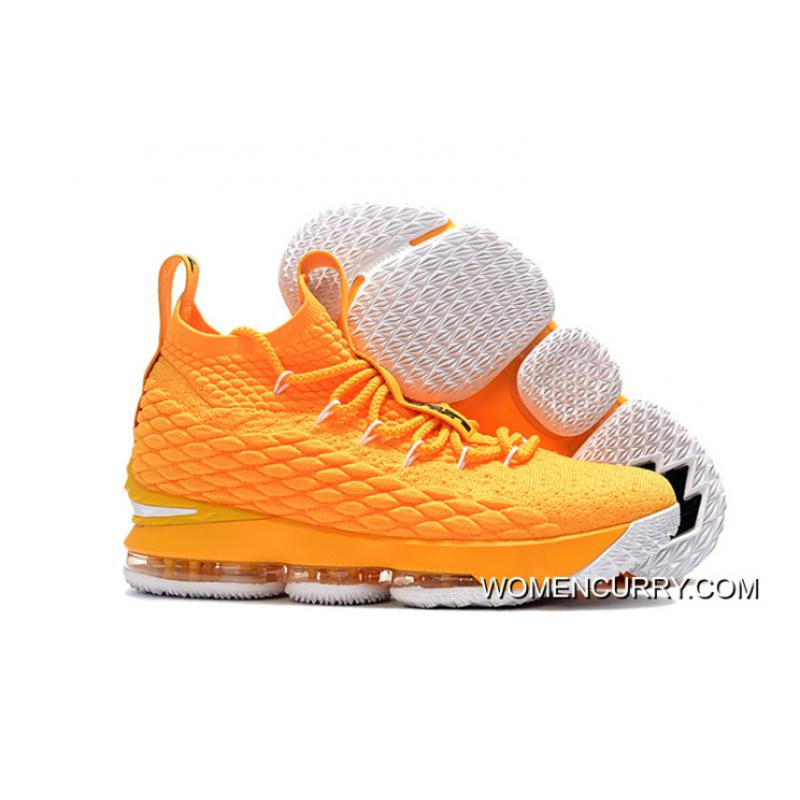 wholesale dealer 5eff7 75680 For Sale Nike LeBron 15 Yellow/White-Black