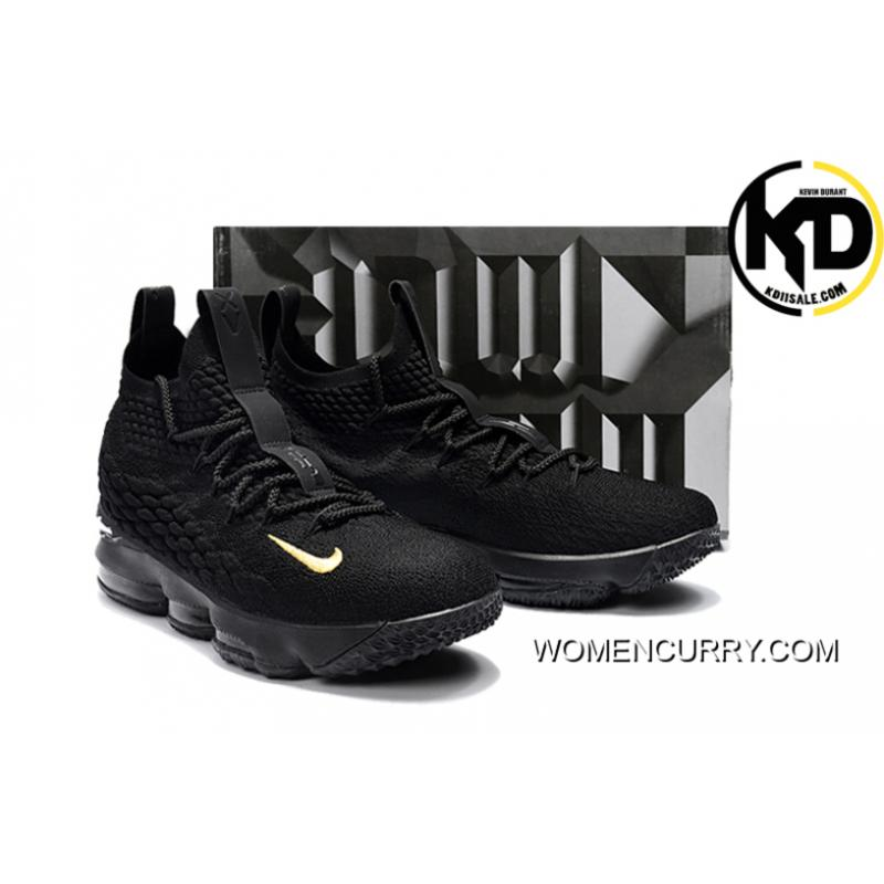 "new product a85ef 611dc New Year Deals Nike LeBron 15 ""PK80"" Black Gold"
