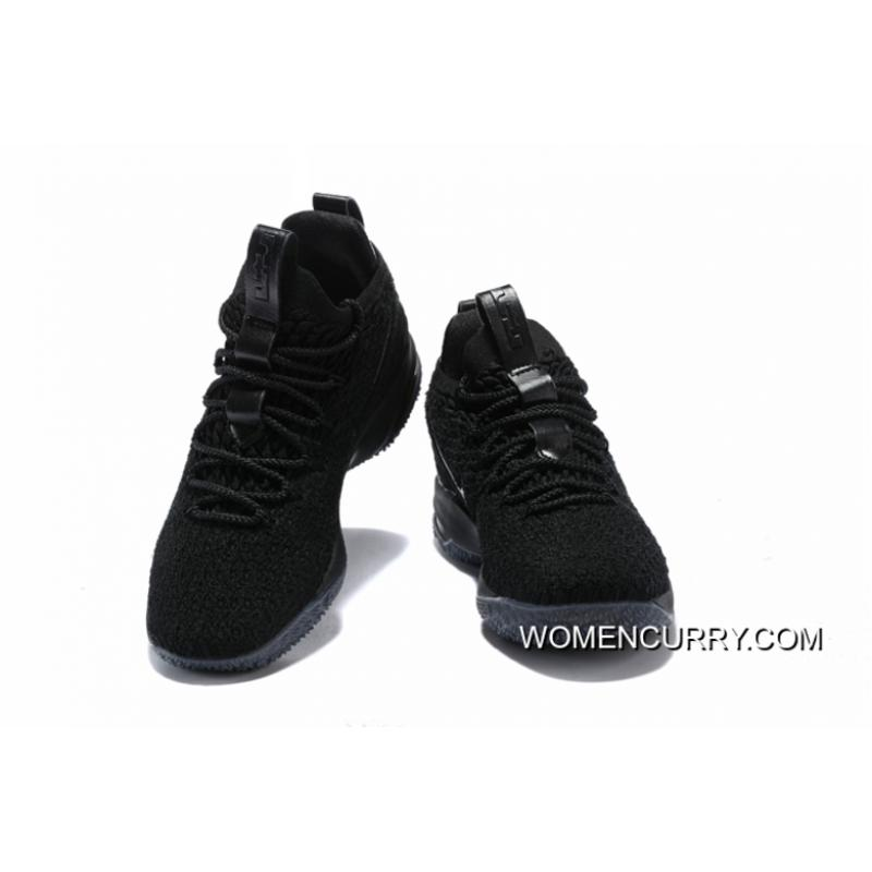low cost 010db 5a56c Nike LeBron 15 Low Triple Black Best