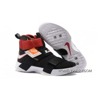 cheaper 4cdde 9fa94  Bred  Nike LeBron Soldier 10 Black White-Red Lastest ·