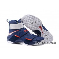 'USA' Nike LeBron Soldier 10 Obsidian/White-University Red New Release