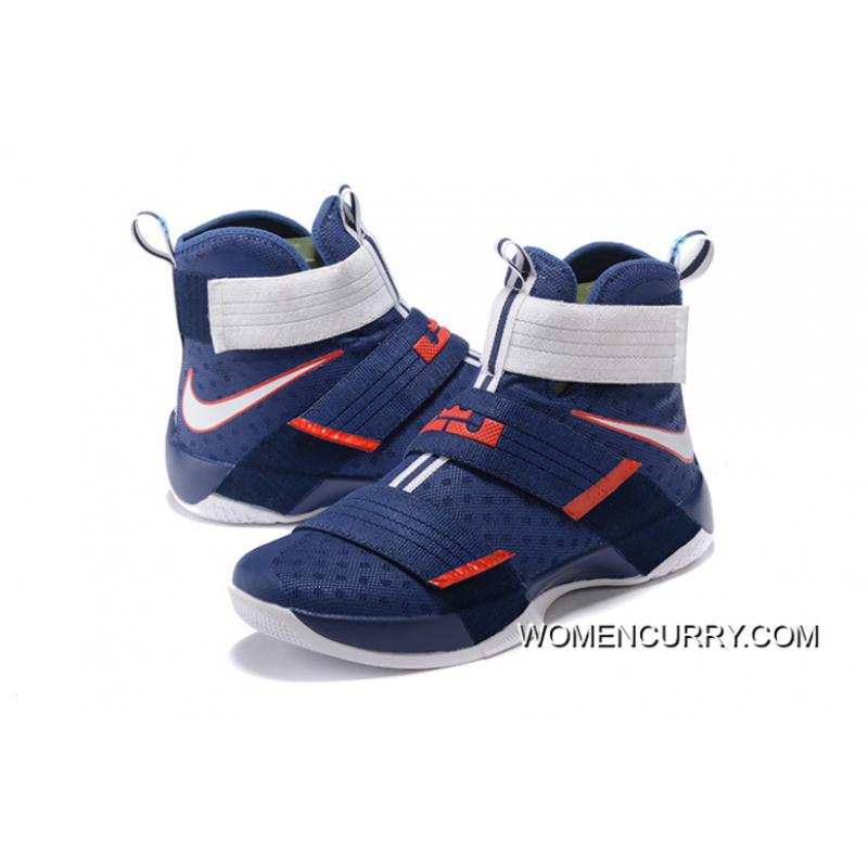 beb4bc67cf50 ...  USA  Nike LeBron Soldier 10 Obsidian White-University Red New Release  ·   ...