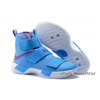 Nike Zoom LeBron Soldier 10 Blue Purple White For Sale