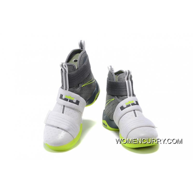purchase cheap fae1a 9ca30 ... usa nike zoom lebron soldier 10 dunkman white cool grey electric green  cheap to buy 22611
