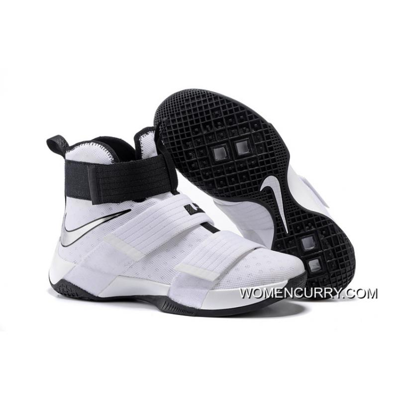 finest selection 96891 2f976 ... inexpensive nike zoom lebron soldier 10 white black metallic silver top  deals 3f813 83b84