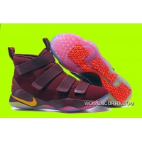 """Cheap Nike LeBron Soldier 11 """"Cavs"""" PE Red Yellow Sale Discount"""