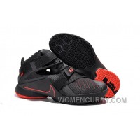 Nike LeBron Soldier 9 Black And Red Highlights Mens Basketball Shoes Super Deals Jh8ZFhe