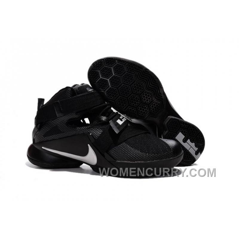 """f9b22892d641 Nike LeBron Soldier 9 """"Blackout"""" Mens Basketball Shoes Free Shipping ..."""