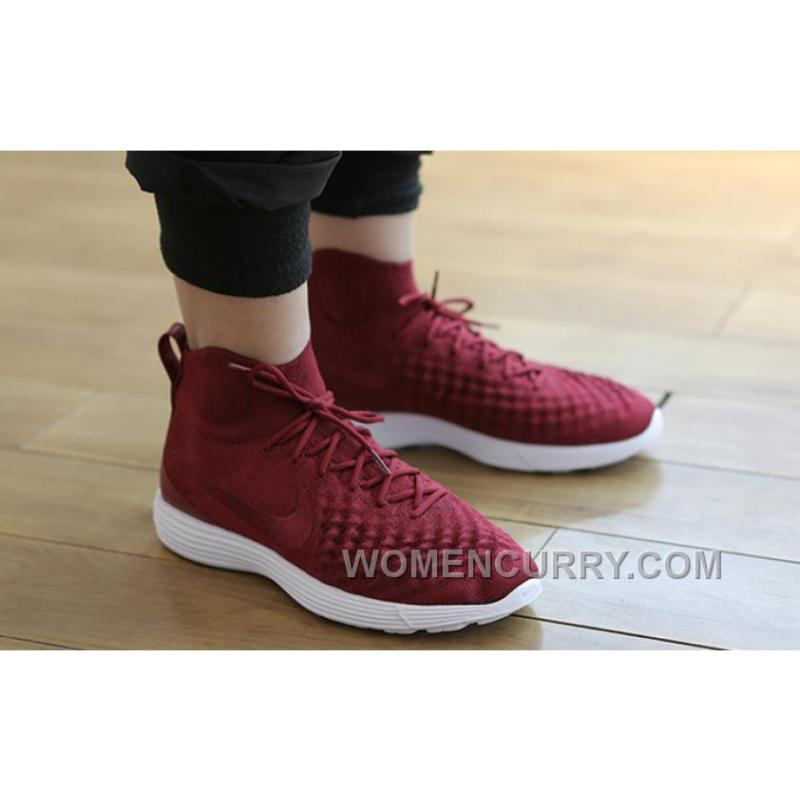 pretty nice d5966 134d6 Nike Lunar Magista II Flyknit Red White 852614-600 New Style