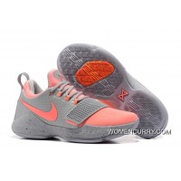 Nike PG 1 Gray Peach Red Men's Basketball Shoes Online