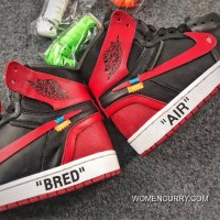 OFF-WHITE X Air Jordan 1 Mens Shoes Bred New Style