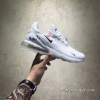 Discount Customized OFF-WHITE X Joint Nike 270 AH8050-100 Women Shoes And Men Shoes