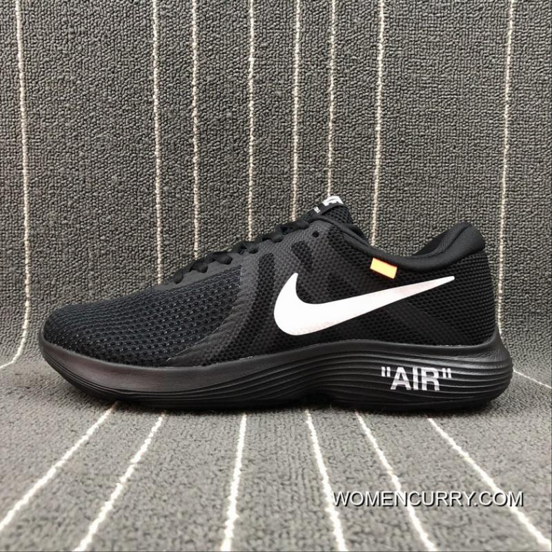 e18455dd17 NIKE REVOLUTION 4 X OFF-WHITE Joint Mesh Breathable Running Shoes ...