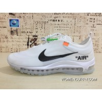 New Style Nike 97 Be Publishing OFF-WHITE Air Max 97 Retro X Zoom Jogging Shoes Authoritative Real Picture Transparent Market Difference Error Version Virgil Abloh Designer Independent Brand Super Limited Men Shoes