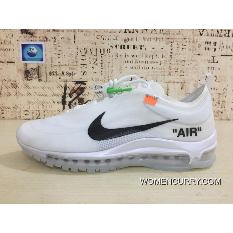 144ba2f039c5 New Style Nike 97 Be Publishing OFF-WHITE Air Max 97 Retro X Zoom Jogging  Shoes Authoritative Real Picture Transparent Market Difference Error Version  ...