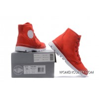Palladium Women Shoes Red White New Release