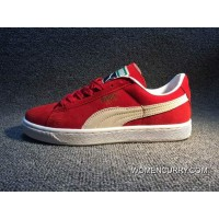 Puma Prevent Pig Leather Red White 36 A 44 New Year Deals