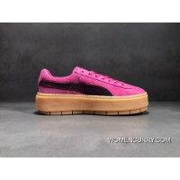 Free Shipping Peach Palm PUMA Platform TraceBlockWn S Rihanna Be Flatform Shoes SKU 367057-02 Size