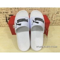 For Sale Puma Slides Rihanna Beach Shoes Sandals Popcat Swan Slides Laser Reflective Beach Sandal All White